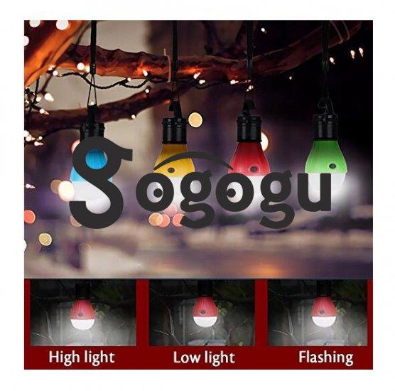 Gogogu 4 Pack Portable LED Lantern Tent Light Bulb Battery
